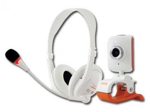 Multimedia kit canyon cnr cp3g 1300k pixel webcam and headphone usb blackblue retail