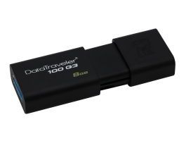 Kingston 8GB USB3.0 Fekete (DT100G3/8GB) pendrive