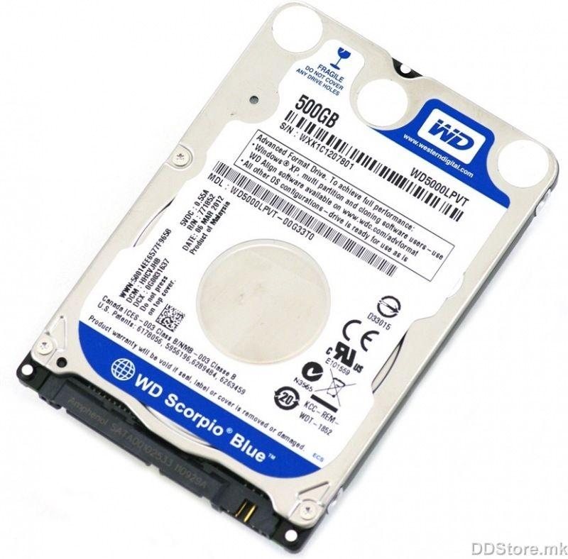 Western Digital WD5000LPVX 500GB SATA3 5400RPM 8MB Blue