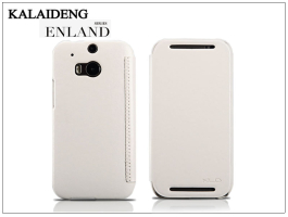 HTC One M8 flipes tok - Kalaideng Enland Series - white