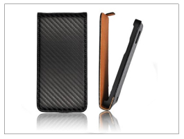 Slim Flip Carbon bőrtok - Apple iPhone 6 - fekete