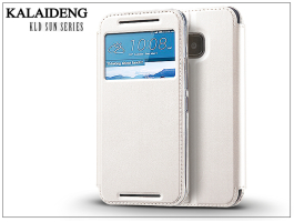 HTC One M9 flipes tok - Kalaideng Sun Series View Cover - white