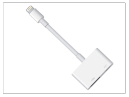 Apple iPhone 5/5S/5C/SE/iPad 4/iPad Mini eredeti, gyári Lightning - digitális HDMI AV-adapter - MD826ZM/A