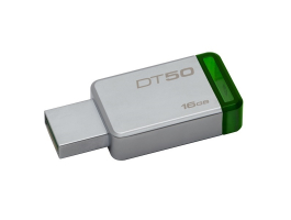Kingston 16GB DT50/16GB USB3.0 ezüst-zöld pendrive
