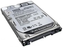 "Western Digital 500GB (WD5000LPLX) Black Scorpion 7200RPM 32MB Sata3 2,5"" HDD"