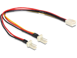 Delock 89343 Cable Molex 3 pin female > 2 x Molex 3 pin male (fan) 22 cm