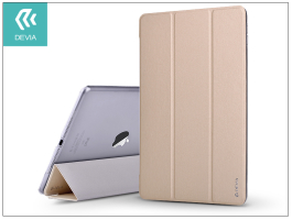 Apple iPad 9.7 (2017/2018) védőtok (Smart Case) on/off funkcióval - Devia Light Grace - gold