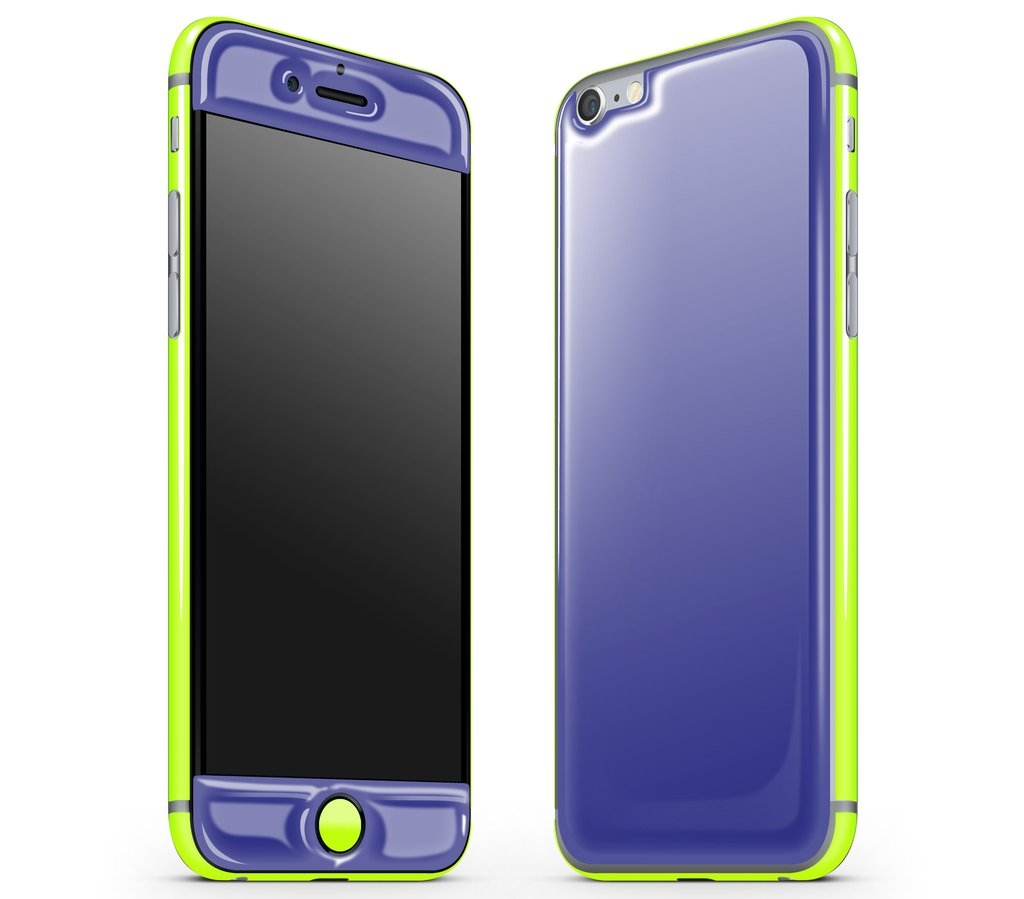 iPhone 6/6s - Adaptation Glow Gel Combo - Purple / Neon Yellow (IX46512)