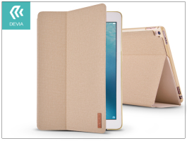 Apple iPad Pro 10.5/iPad Air (2019) védőtok (Smart Case) on/off funkcióval - Devia Flax Flip - gold