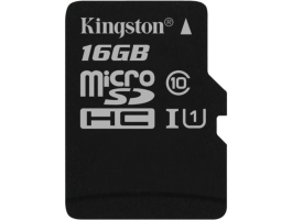 Kingston 16GB SD micro Canvas Select 80R (SDHC Class 10 UHS-I) (SDCS/16GBSP) memória kártya