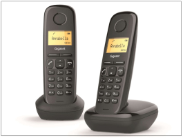 Gigaset A170 Duo DECT telefon - fekete