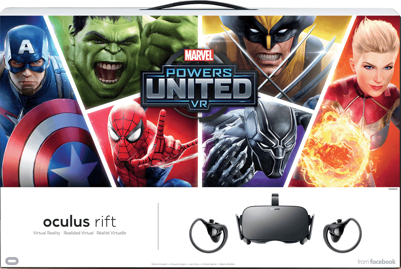 Oculus Rift Headset + Touch Motion Controller (Marvel Special Edition)