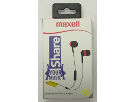 Maxell Share Earphone Red mikrofonos fülhallgató (303992)