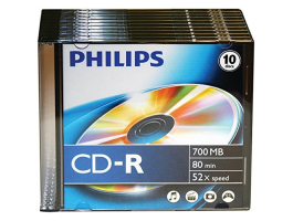 Philips CD-R80 SLIM 52x (PH778206)