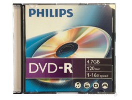 Philips DVD-R47 16x normál tokos (PH887212)