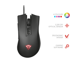 Trust GXT 121 Zeebo Gaming mouse Black (23091)