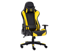 LC Power LC-GC-600BY Gaming Chair Black/Yellow gamer szék (LC-GC-600BY)