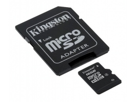 Kingston 16GB CL4 (SDC4/16GB) micro SDHC + SD adapter memória kártya