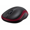 Logitech M185 Red wireless notebook egér (910-002240)