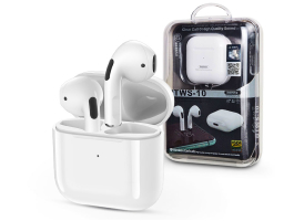 Remax Bluetooth sztereó TWS headset v5.1 + töltőtok - Remax TWS-10 Wireless Earbuds - white