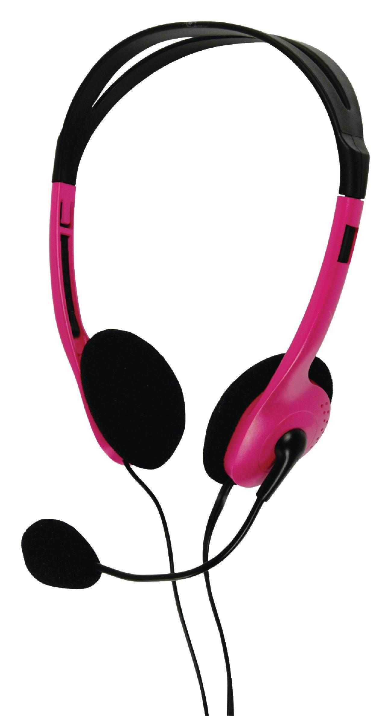 basicXL (BXL-HEADSET1PI) rózsaszín mikrofonos fejhallgató (2m kábel ... 154c66578a
