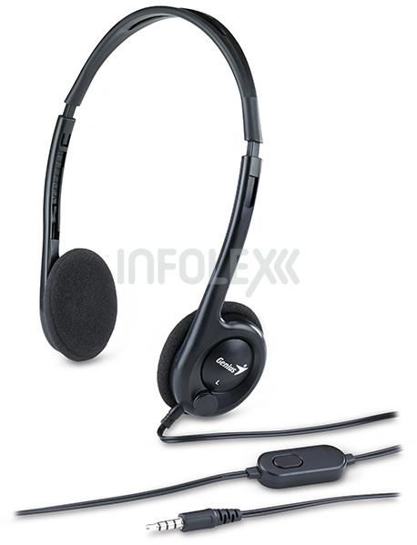 Genius HS-M200C 4-pin jack fekete headset 6b700752b0