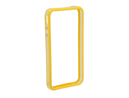 Apple iPhone 4, 4S védőkeret - bumper - Delight 55404A - transparent / yellow