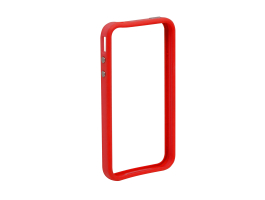 Apple iPhone 4, 4S védőkeret - bumper - Delight 55403A - red