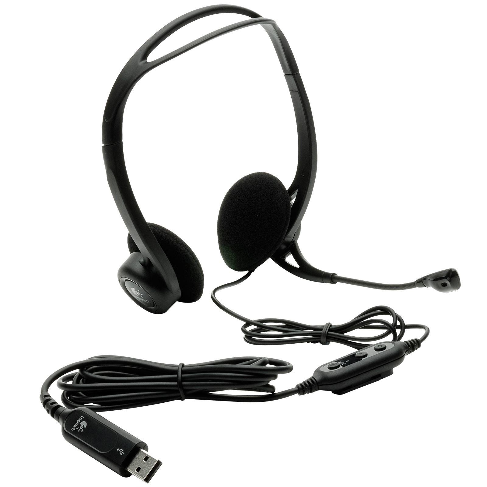 Logitech 960 fekete USB headset (981-000100) 2228f14b56