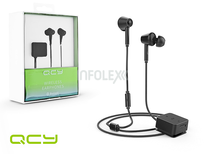 QCY Wireless Bluetooth sztereó fülhallgató v4.1 - QCY E1 ANC Bluetooth  Wireless Earphones - black e6dcbd1dbd
