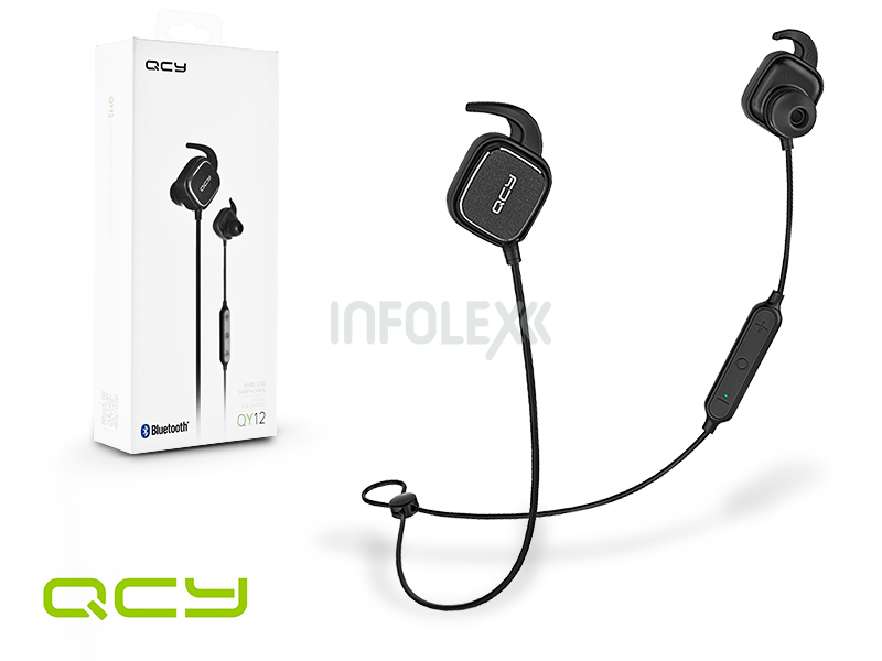 QCY Wireless Bluetooth sztereó fülhallgató v4.1 - QCY QY12 Bluetooth  Wireless Earphones - black d31e6b8e68