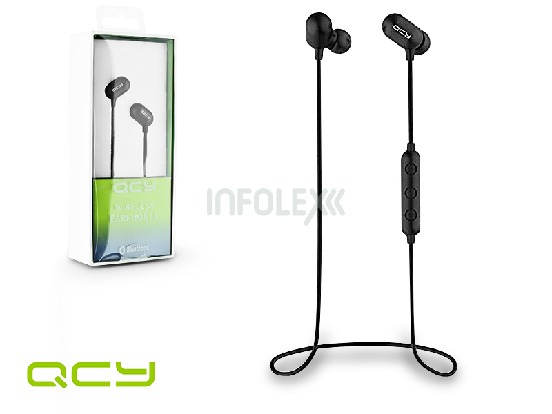 QCY Wireless Bluetooth sztereó fülhallgató v4.1 - QCY QY33 Bluetooth  Wireless Earphones - black babe6f9432