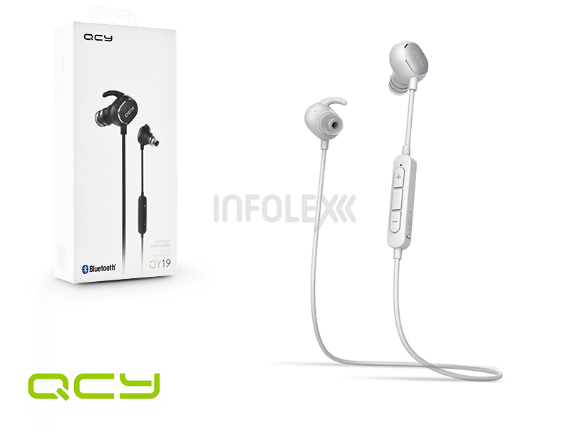 QCY Wireless Bluetooth sztereó fülhallgató v4.1 - QCY QY19 Bluetooth  Wireless Earphones - white f5c769cf83